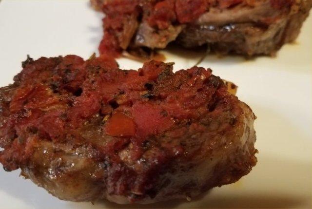recipe, country style ribs, pork, tomato, oven